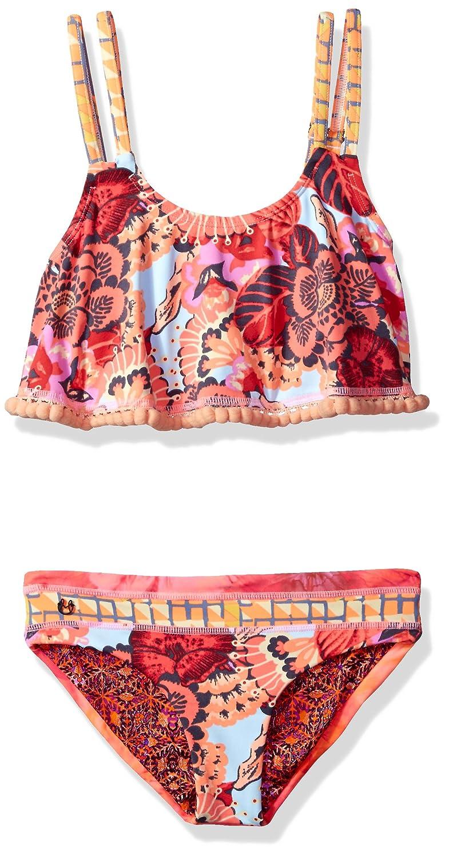 Amazon.com  Maaji Girls  Mixed Print Flounce Top Bikini Swimsuit Set   Clothing 923e7dba7099