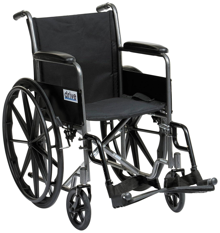 Drive Medical SSP118FA SF Sedia a rotelle sportiva manuale colore Argento Amazon Salute e cura della persona
