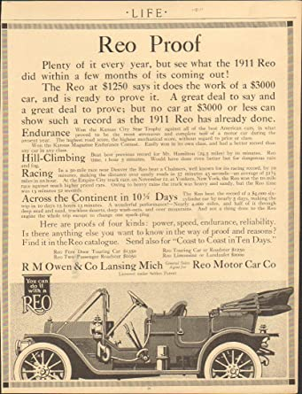 Amazon com: 1911 Reo Touring Car Lansing MI Automobile