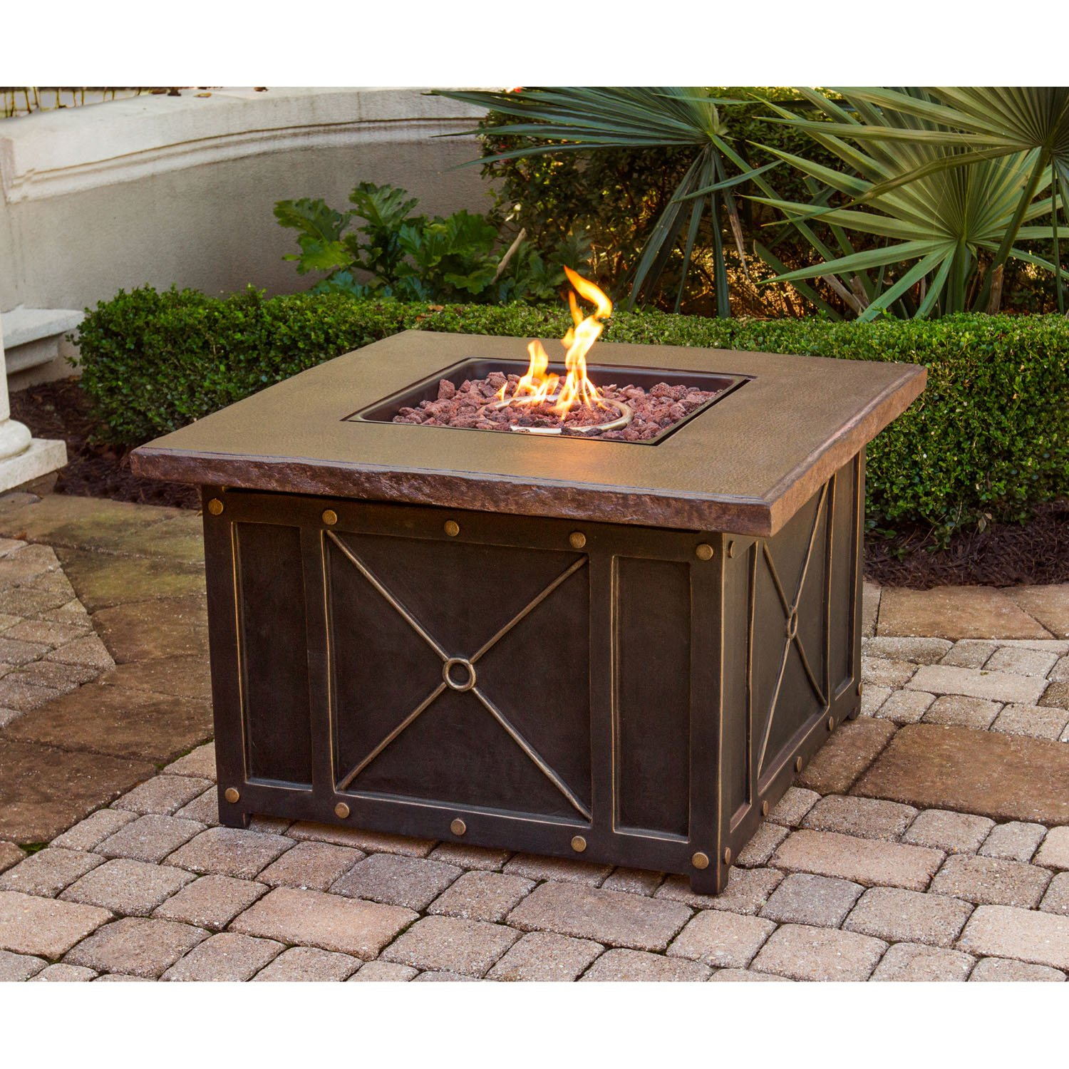 Amazon Cambridge CLASSIC1PCFP Square Gas Fire Pit with