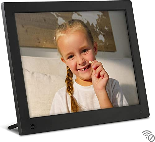 NIX Advance 15 Inch USB Digital Photo Frame – IPS Display, Auto-rotate, Motion Sensor, Remote Control – Mix Photos and Videos in the Same Slideshow