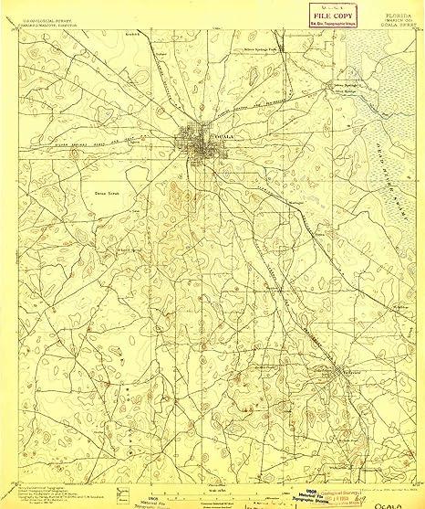Map Of Ocala Florida.Amazon Com Yellowmaps Ocala Fl Topo Map 1 62500 Scale 15 X 15