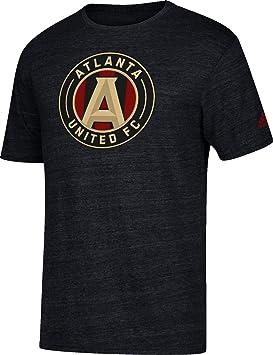 Adidas Hombres de Atlanta Unidos Vintage Negro Jaspeado Camiseta, Negro: Amazon.es: Deportes y aire libre