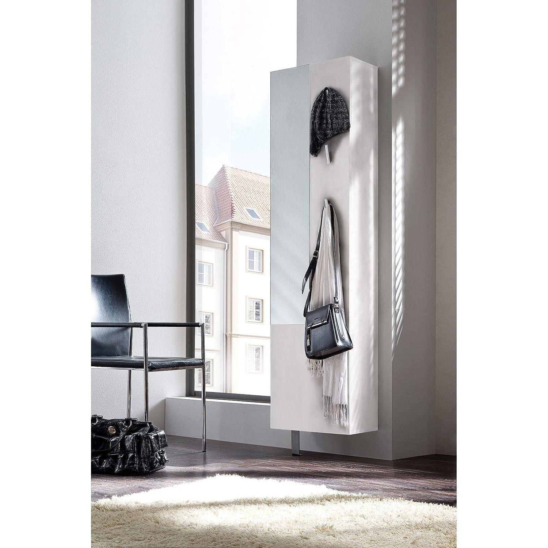 Schuhschrank Garderobenschrank, weiß matt, drehbar: Amazon.de: Küche ...