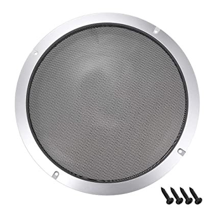 uxcell 6.5 inches Speaker Grill Mesh Decorative Circle Woofer Guard Protector Cover Audio Accessories Silver