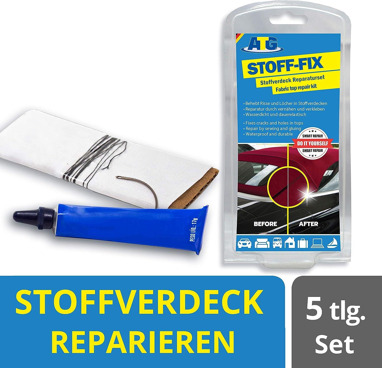 Atg Cabrio Verdeck Stoffverdeck Reparatur Set Mit Kleber Ahle Nadel Und Faden Auto