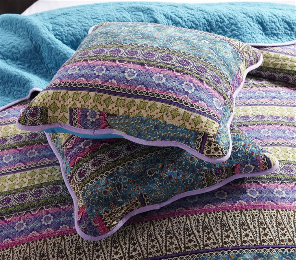 3-Piece Patchwork Bedspread/Quilt Sets ,100% Cotton,Queen