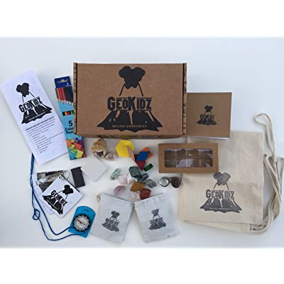 Geology Rock Kit by GeoKidz - Science Based Exploration Kit for STEM Based Education and Play: Industrial & Scientific