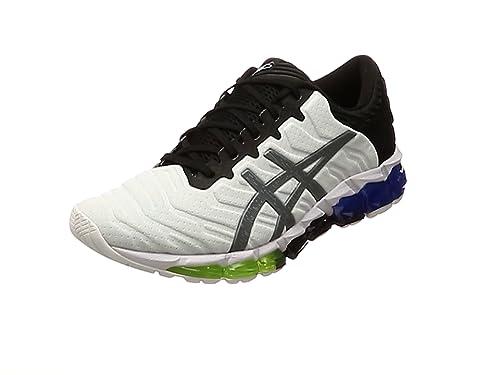 Asics Quantum 0 5 Zapatilla para correr en Carretera o Camino de tierra ligero con Soporte Neutral para Hombre Blanco Negro Azul 47 EU: Amazon.es: Zapatos y complementos