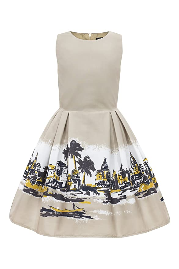Amazon.com: BlackButterfly Kids Kira Vintage 50s Childrens Girls Dress: Clothing