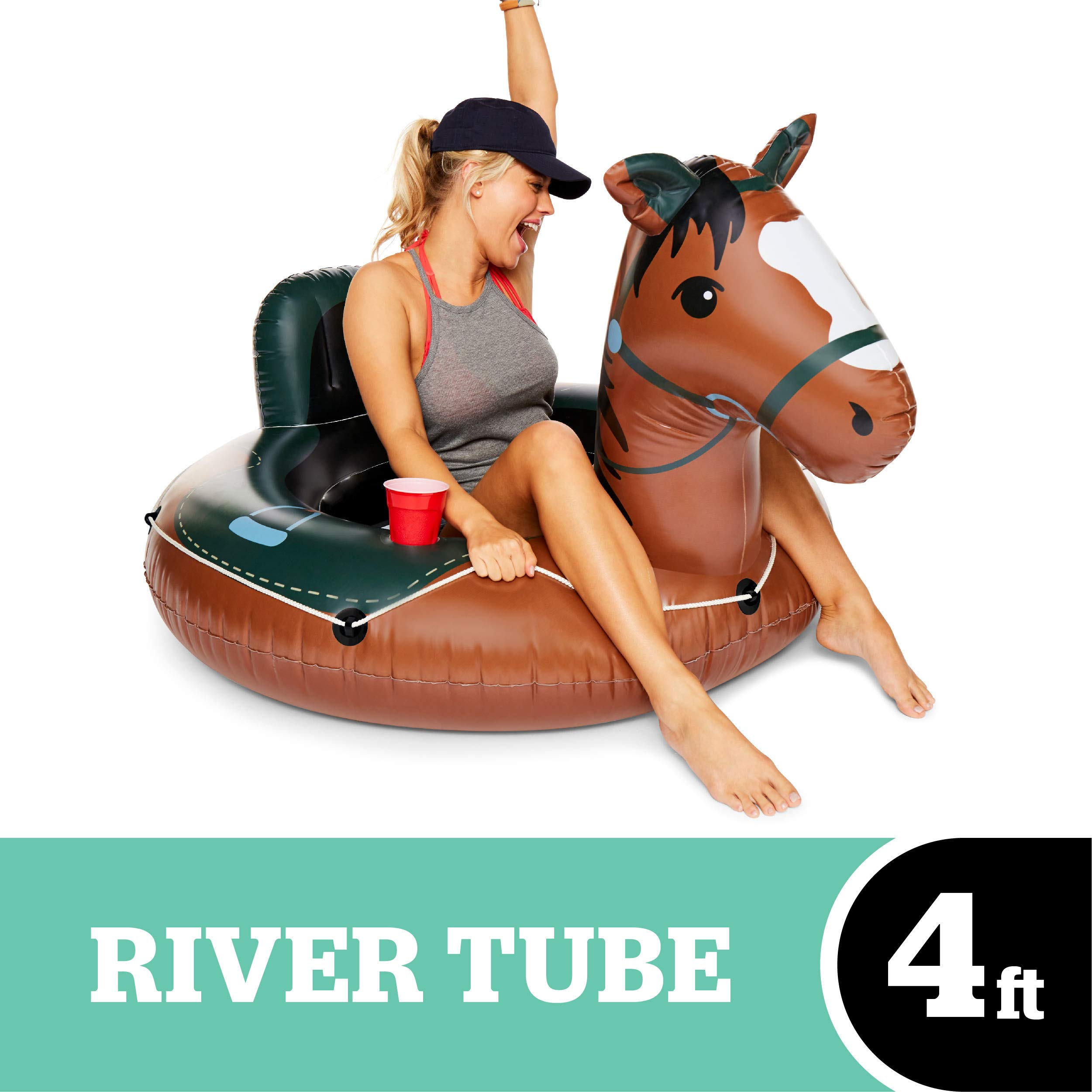 BigMouth Inc Buckin' Bronco Horse River Tube, Giant Inflatable River Tube with Rope, Funny Float by BigMouth Inc