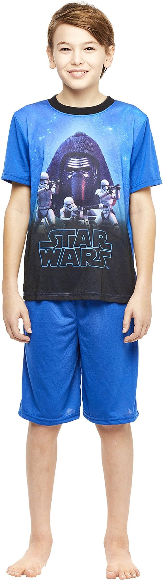 Jellifish Kids Boys 2-Piece Pajamas Set Short-Sleeve Top and Shorts