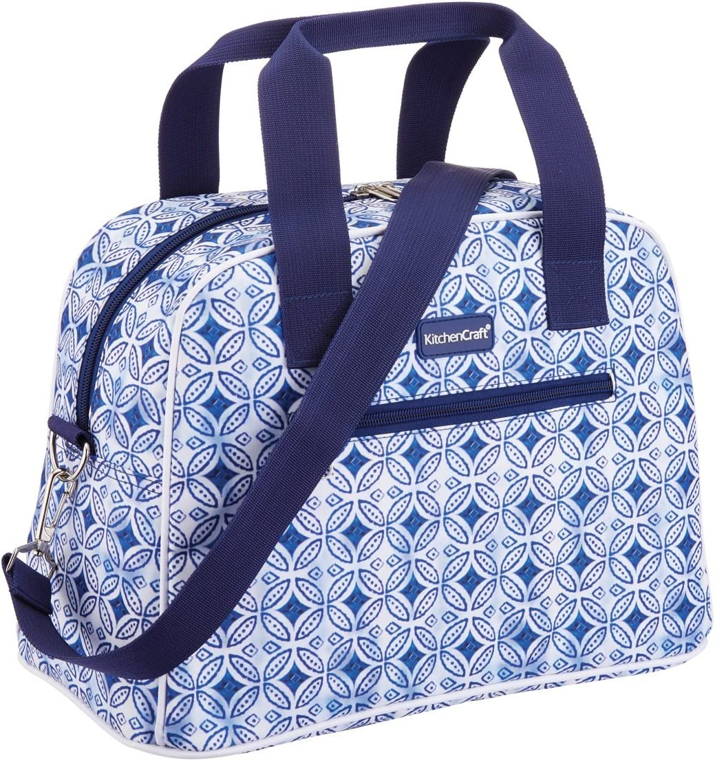 12 L 2.5 Gal Kitchencraft we Love Summer Nautical-striped Medium Cool Bag