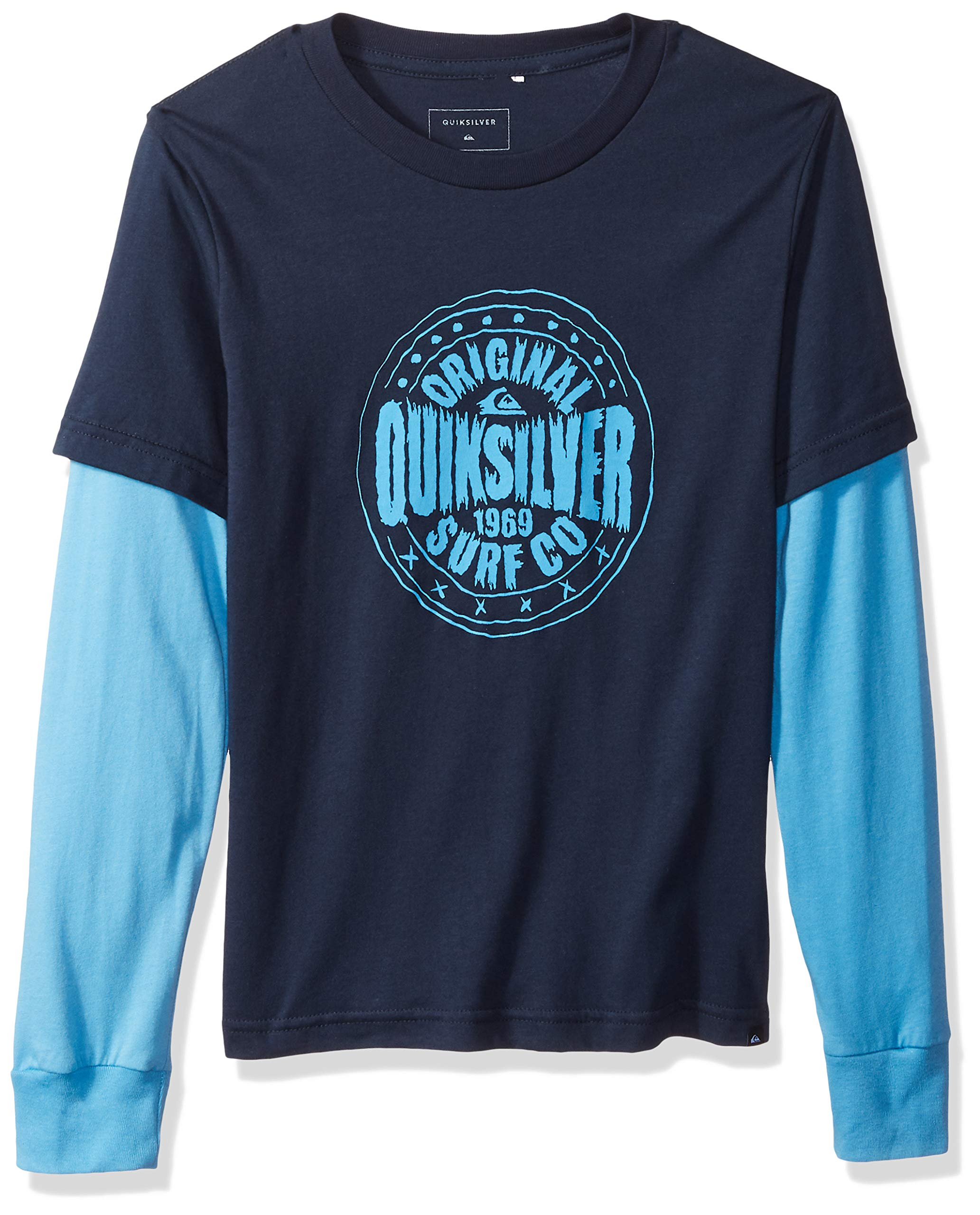 Quiksilver Big Boys' Rocking Rails Youth Long Sleeve Tee Shirt, Navy Blazer, S/10