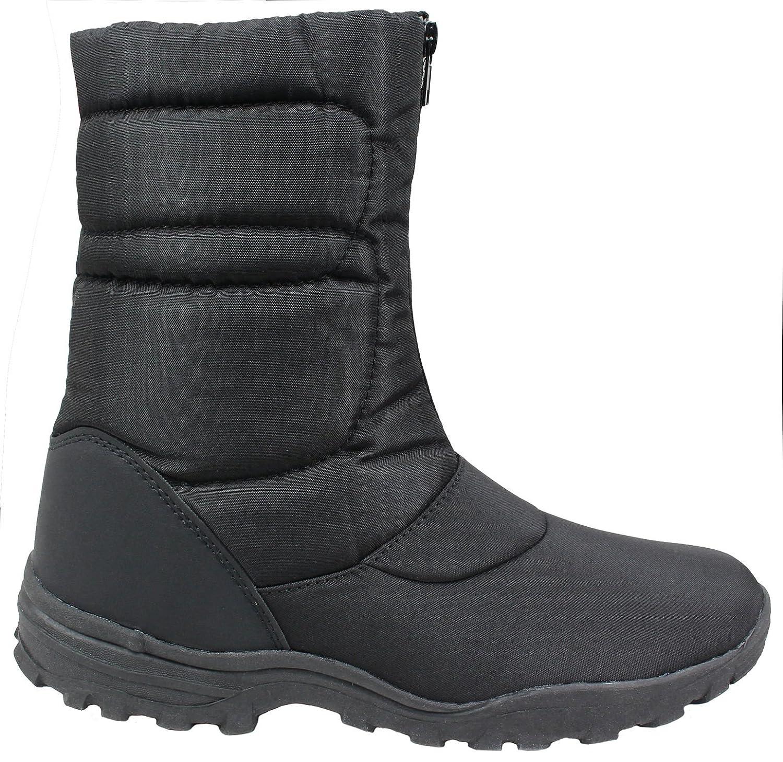 noorsk - Botas Botas Botas de nieve (con cierre frontal, 1 par) negro Talla:38 9cf1d7