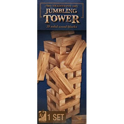 Jumbling Tower 39 Wood Pieces: Toys & Games