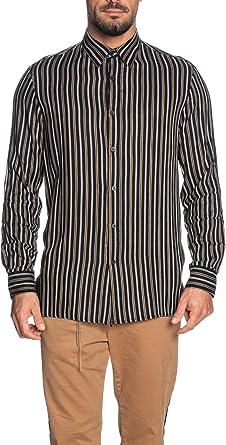 Imperial - Camisa de Manga Larga para Hombre a Rayas, Color Negro Negro XL: Amazon.es: Ropa y accesorios