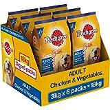 Pedigree (Adult - Dog Food) Chicken & Vegetable , 18kg (3 kg X 6 Packs)