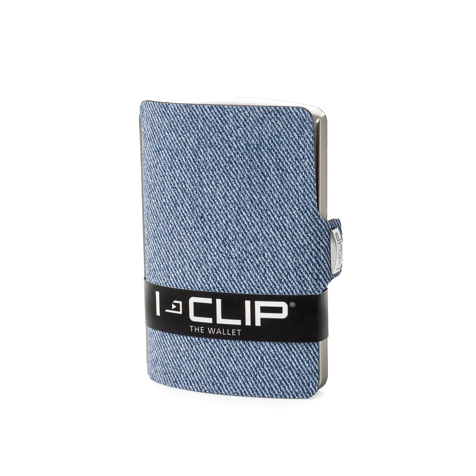 I-CLIP Aspecto Jeans Cartera Delgada Tarjetero Pequeño para Tarjetas de Crédito y Billetes (