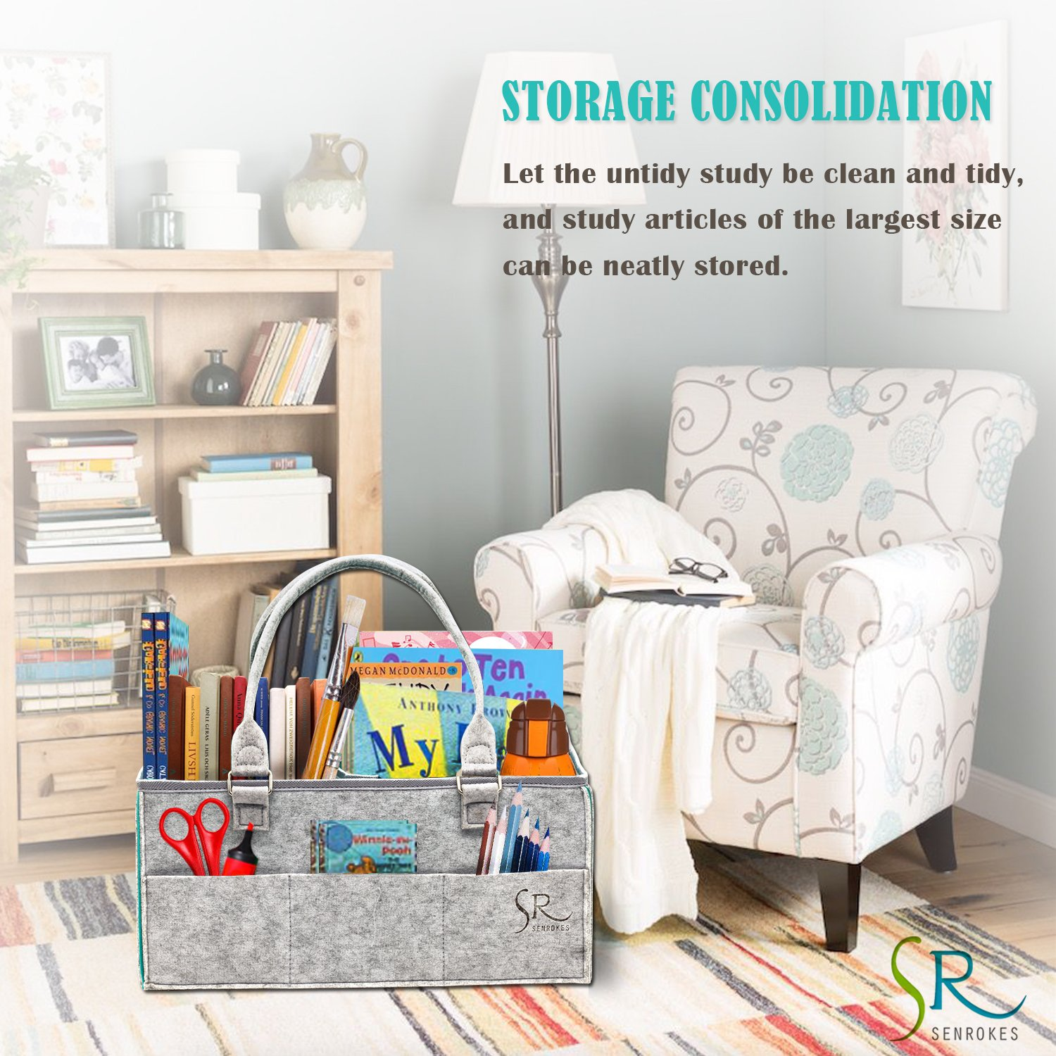 Car and Travel. Senrokes US Senrokes Baby Diaper Caddy Organizer Wipes and Toys to Household Grey Nursery Storage Portable Diaper Caddy Baby Shower Gift Baskets with Changeable Insert for Baby Diapers