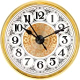 Mudder Quartz Movement 2.8 Inch (70 mm) Gold Clock Insert Fit Diameter 2.4 Inch (61 mm) Hole