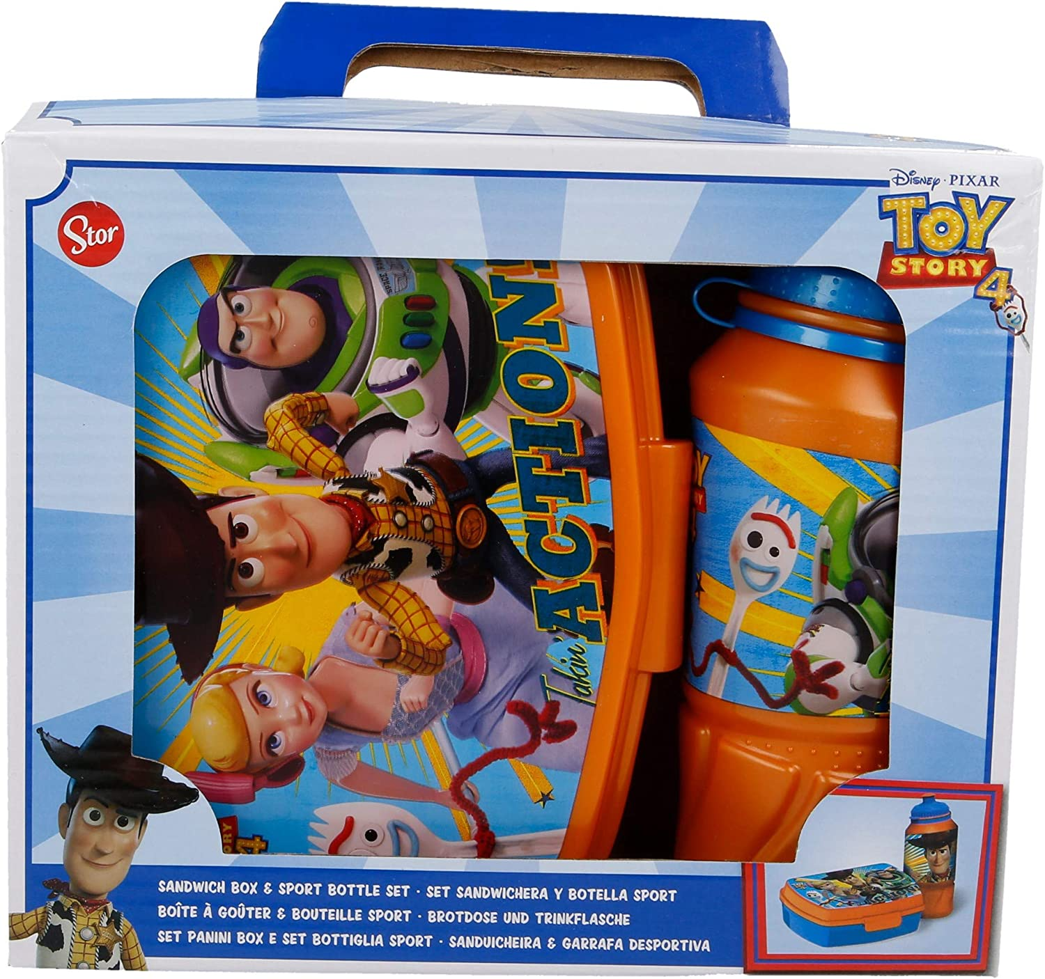 SET BOTELLA SPORT EASY 420 ML, SANDWICHERA FUNNY TOY STORY 4