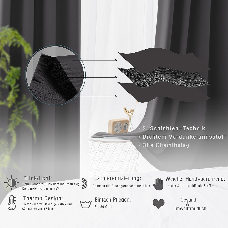 Attraktiv FLOWEROOM Vorhänge Blickdicht Verdunklungsgardine Mit Ösen Für Wohnzimmer  Kinderzimmer, Geräuschreduzierung Wärmeschutz Thermo Lichtundurchlässige ...