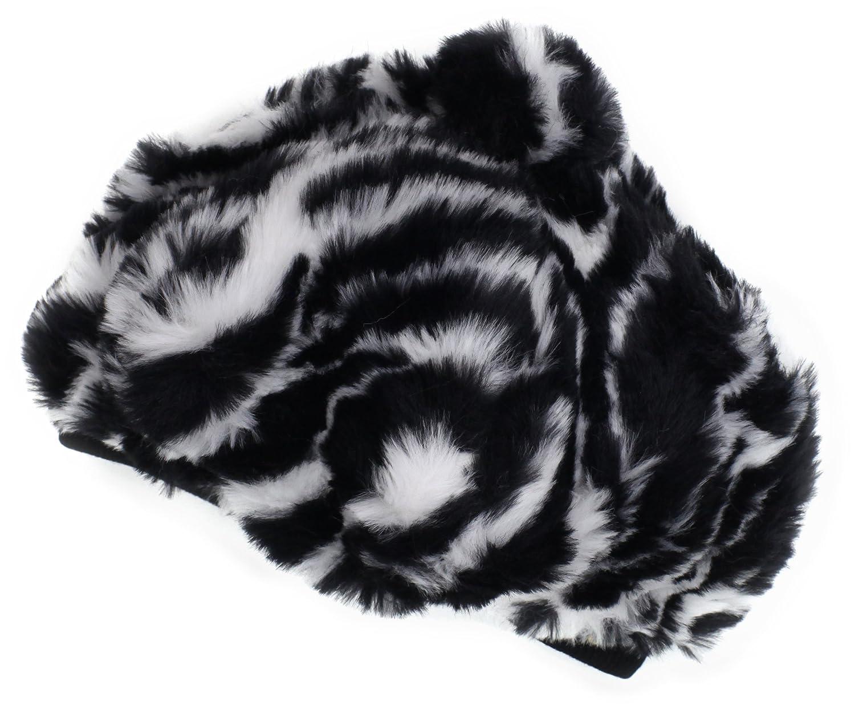 Mud Pie Baby Girls Zebra Faux Fur Beret