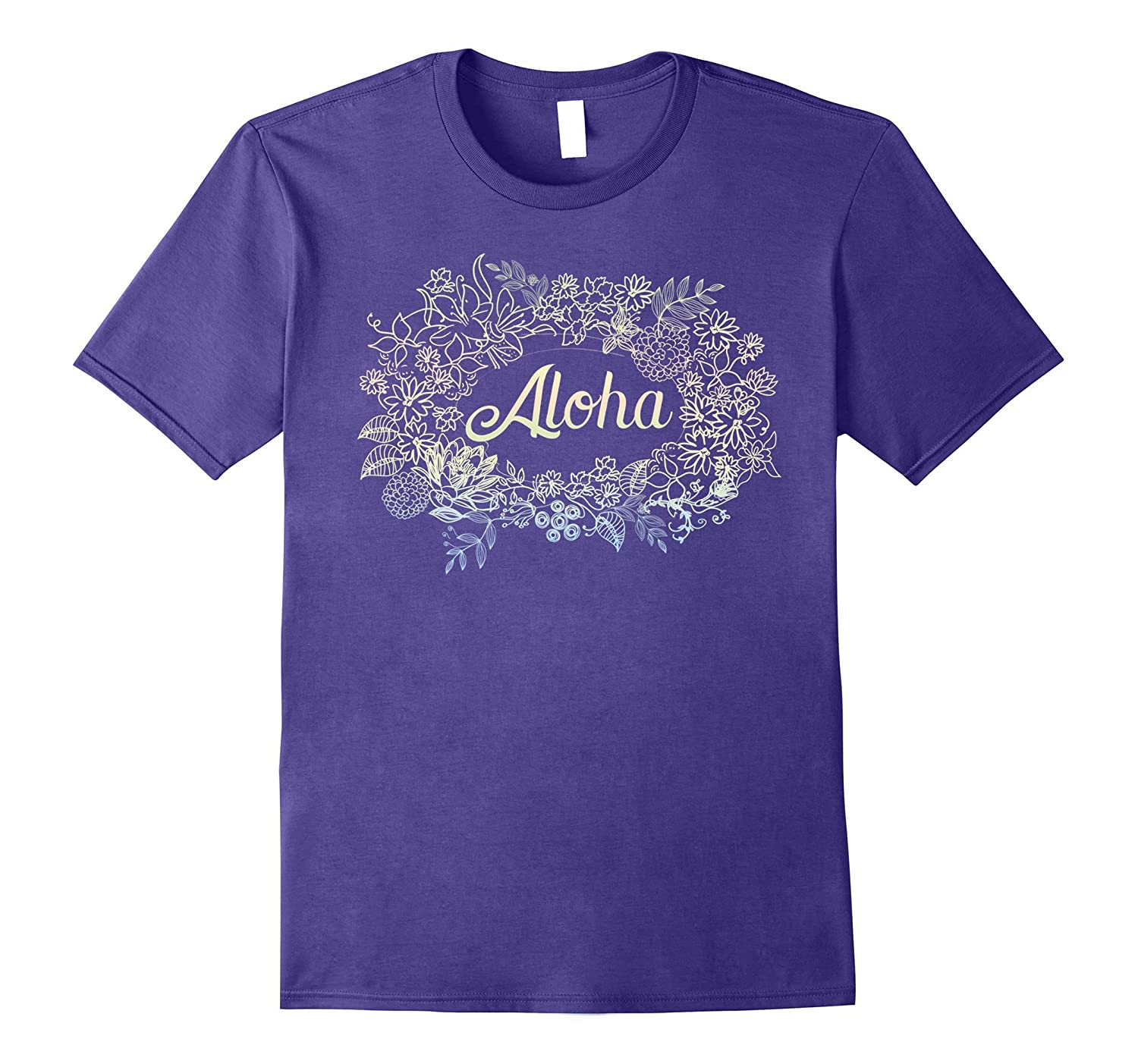 Aloha Hawaiian Shirt Tiki Party Luau Party Tshirt Vacation-BN