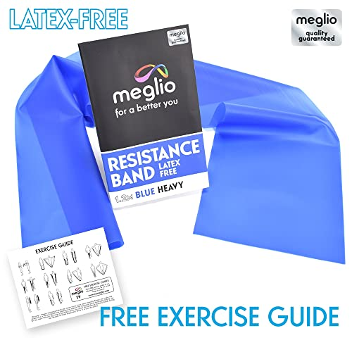 Latex Free Resistance Bands 1.2 & 2 Metre. Exercise Bands for Physiotherapy, Strength Training & Fitness Workouts, Yoga, Pilates, Stretching. Range of Resistance Strengths Available & Exercise Guide Booklet Included