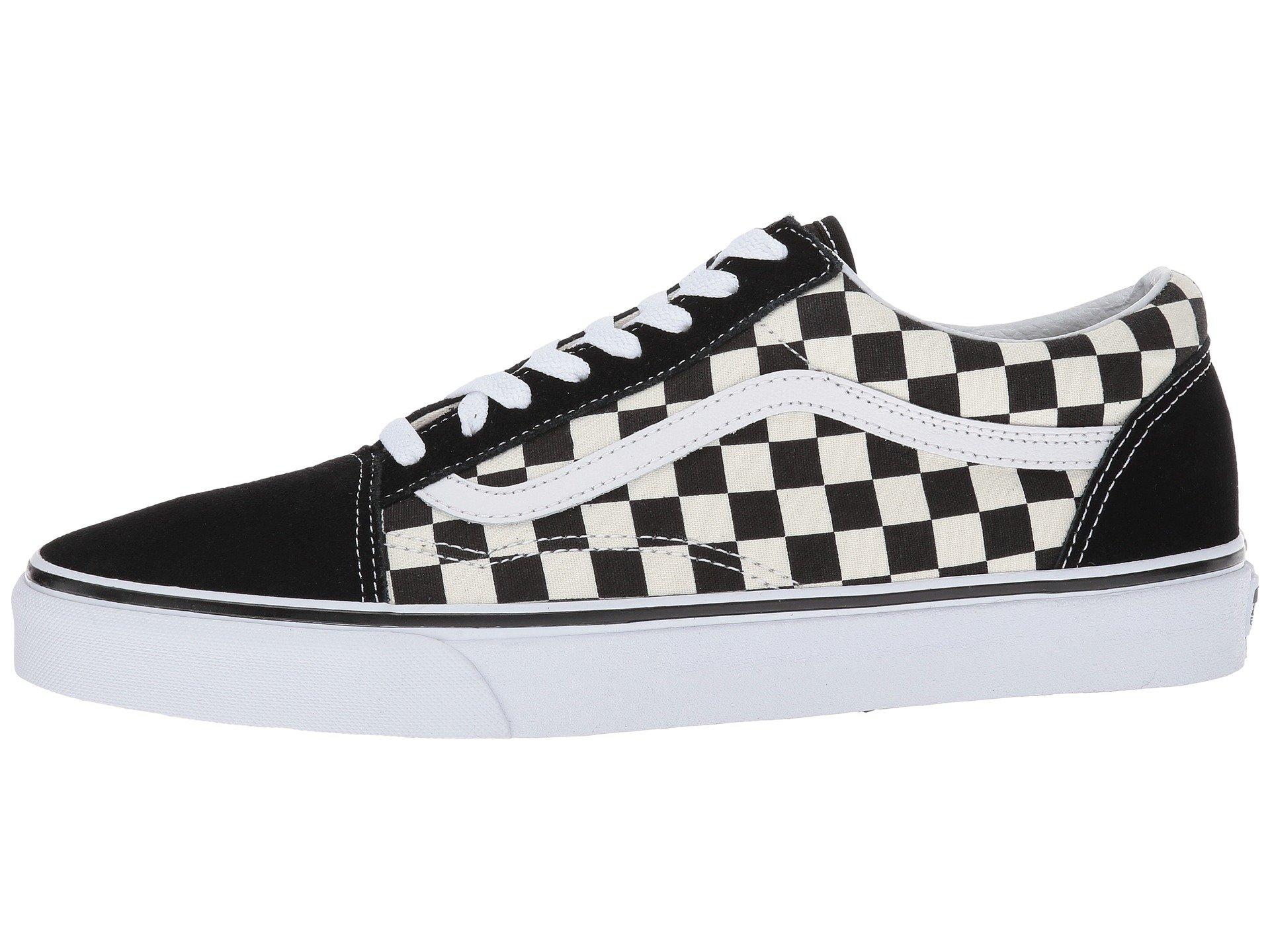 Vans Unisex Checkerboard Old Skool Lite Blk/White Checkerboard Slip-On - 3.5 by Vans (Image #6)