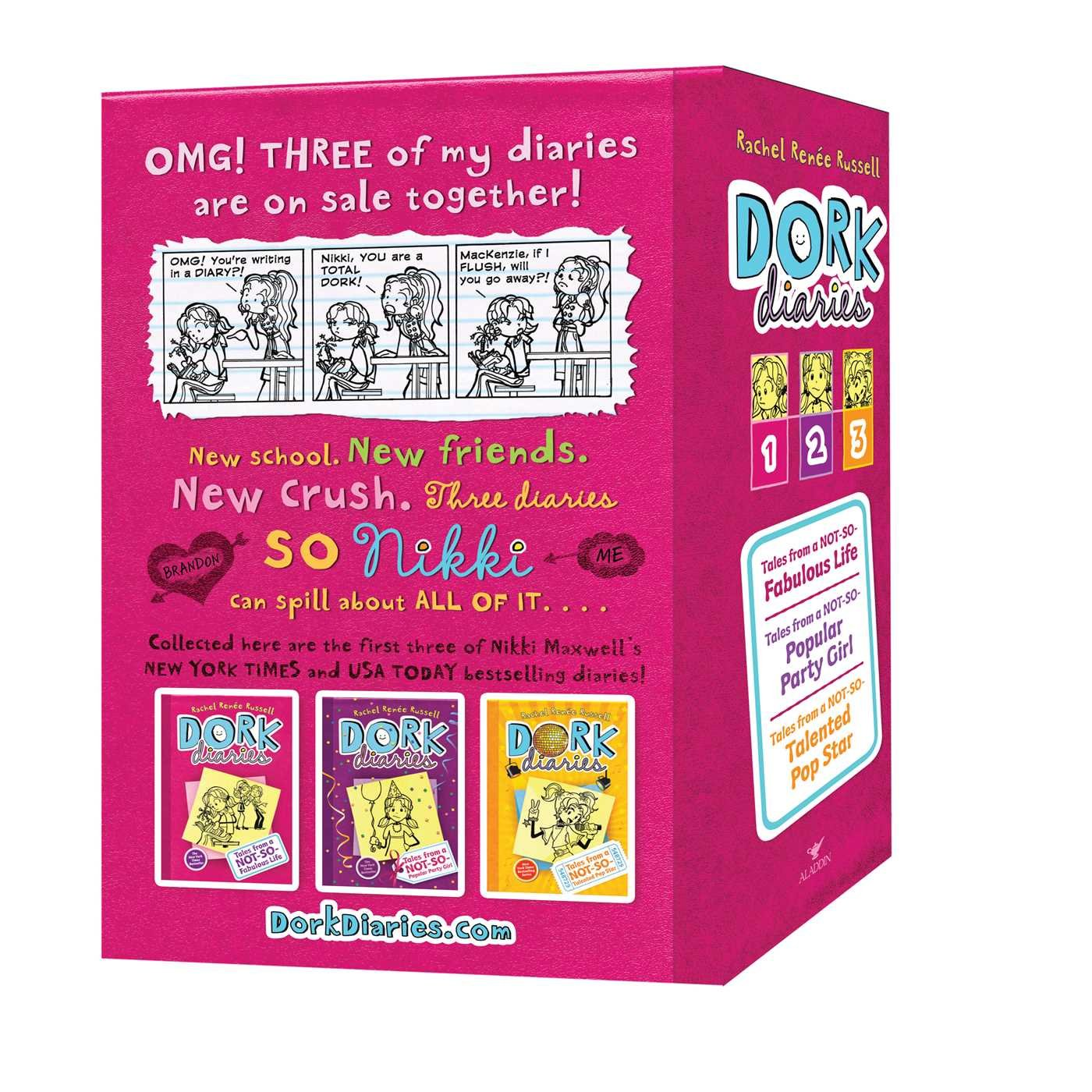 Dork Diaries Box Set (Book 1-3): Dork Diaries; Dork Diaries 2; Dork Diaries 3 by Aladdin Paperbacks (Image #1)