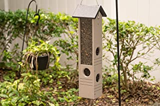 product image for DutchCrafters Poly Ultimate Black Oil Sunflower Seed Bird Feeder Made in America (Light Gray & Black)