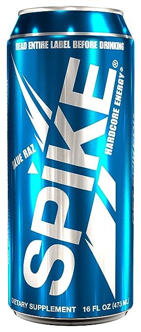 Amazon.com: Spike Hardcore Energy Blue Raz - 24 (16 oz): Health ...