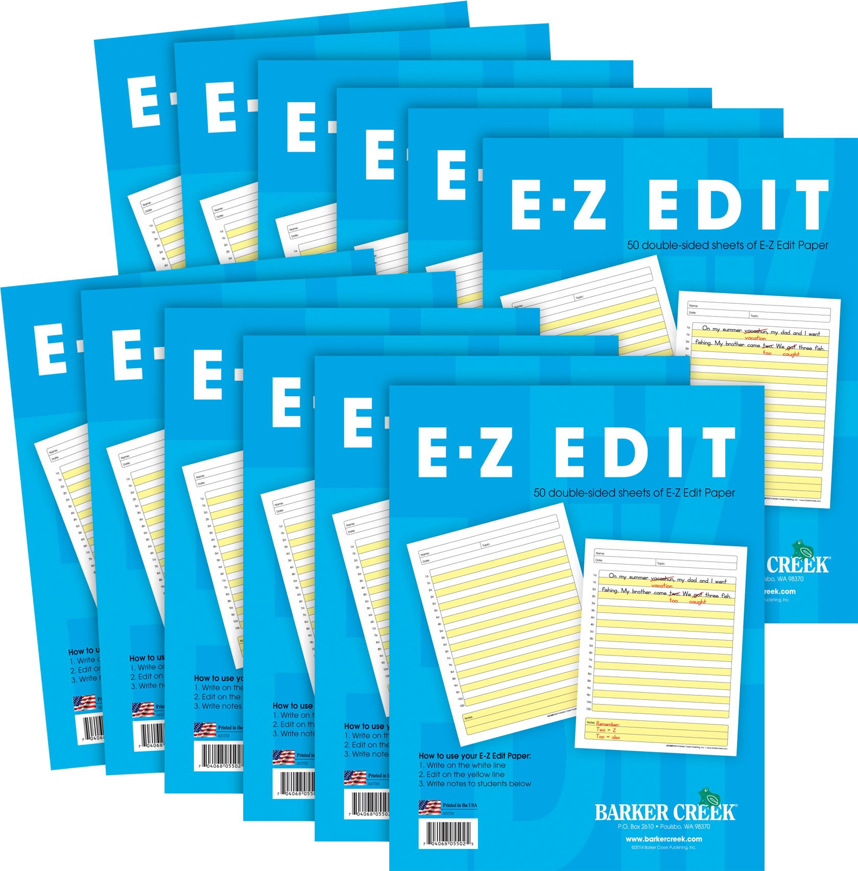 Barker Creek - Office Products E-Z Edit Paper, 12 Pack (BC-5502-12)
