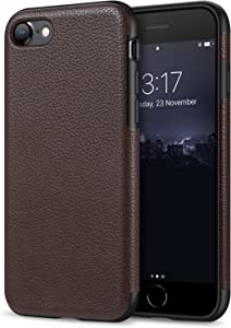 Tasikar Compatible with iPhone SE 2020 Case/iPhone 7 Case/iPhone 8 Case Leather and TPU Design Slim Case (Brown)