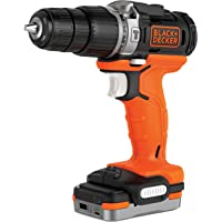 BLACK+DECKER BDCHD12S1-XJ - Taladro Percutor 12V con batería litio 1.5 Ah, incluye cable USB de…