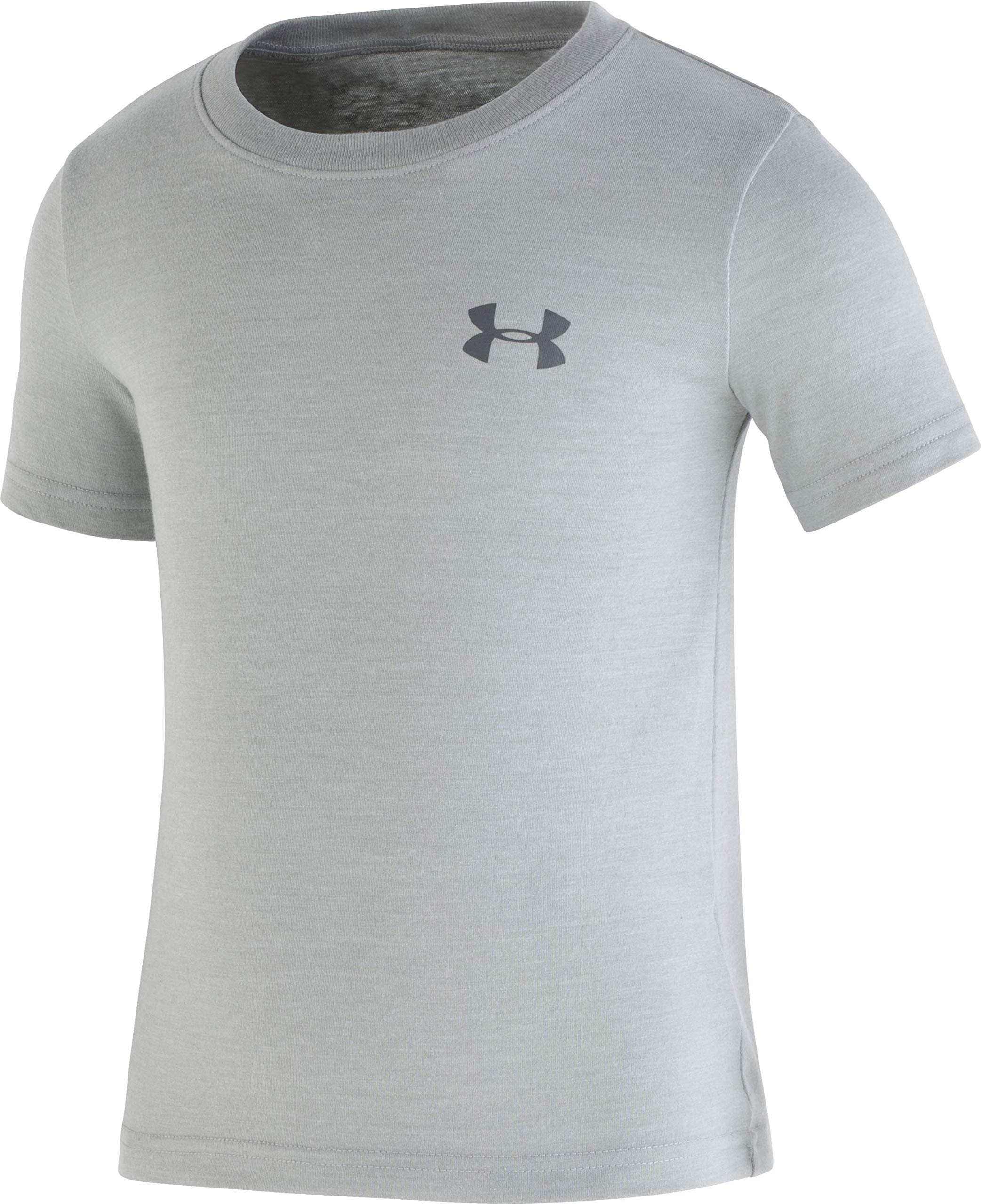 Under Armour Boys' Little Triblend T-Shirt, Moderate Gray-S19, 7