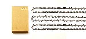 3 tallox 10 Inch Chainsaw Chains 3/8 LP .043 Inch 40 Drive Links