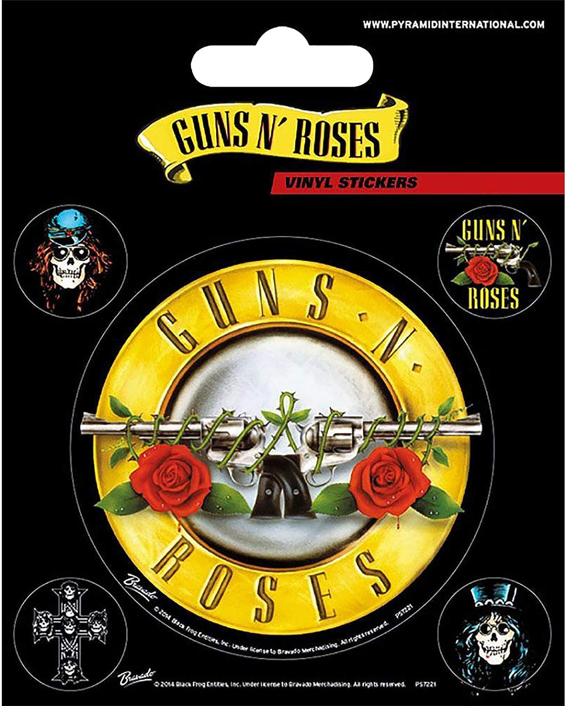 Guns N Roses - Pack de pegatinas (Talla Única) (Multicolor): Amazon.es: Ropa y accesorios