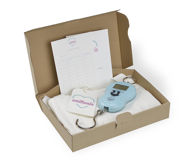 Balanza para bebés de Emiltonia: básculas para recién nacidos y bebés. Pese como la comadrona (Blanco, primer juego) : Amazon.es: Bebé