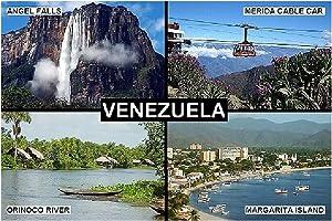 SOUVENIR FRIDGE MAGNET - VENEZUELA 9cm x 6cm (3½ x 2½ inches) Jumbo