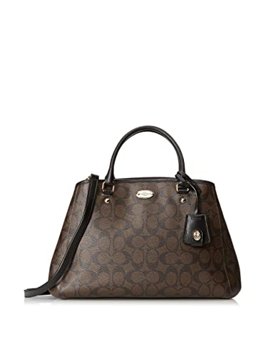 027520067 Amazon.com: Coach Signature Small Margo Carryall - Brown/Black: Shoes
