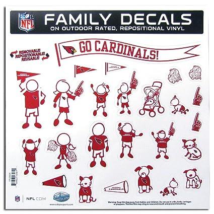 86d78d8b537 Amazon.com   NFL Arizona Cardinals Large Family Decal Set   Sports ...