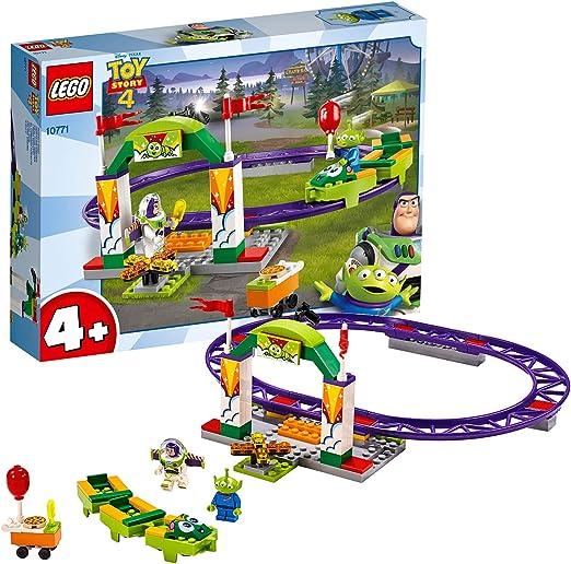 LEGO 4+ Toy Story 4: Alegre Tren de la Feria, Juguete de Construcción de Disney Pixar, Atracción con Minifigura de Buzz Lightyear (10771): Amazon.es: Juguetes y juegos