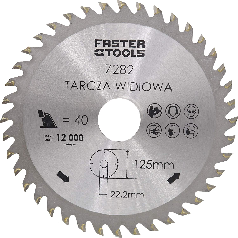 Hoja de sierra circular para madera 125 x 22,2 mm, 40 dientes holz-metall