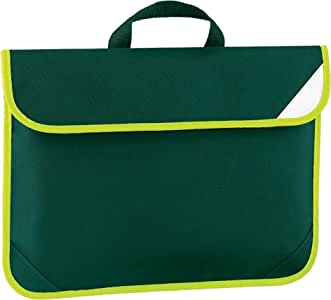 Quadra Enhanced-Vis Book Bag - 4 Litres (UK Size: One Size) (Bottle Green)