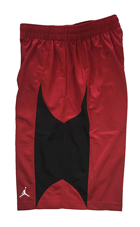 04b40bbae980 Amazon.com   Nike Air Jordan Mens Durasheen Jumpman Basketball Shorts Red  Black (S)   Sports   Outdoors