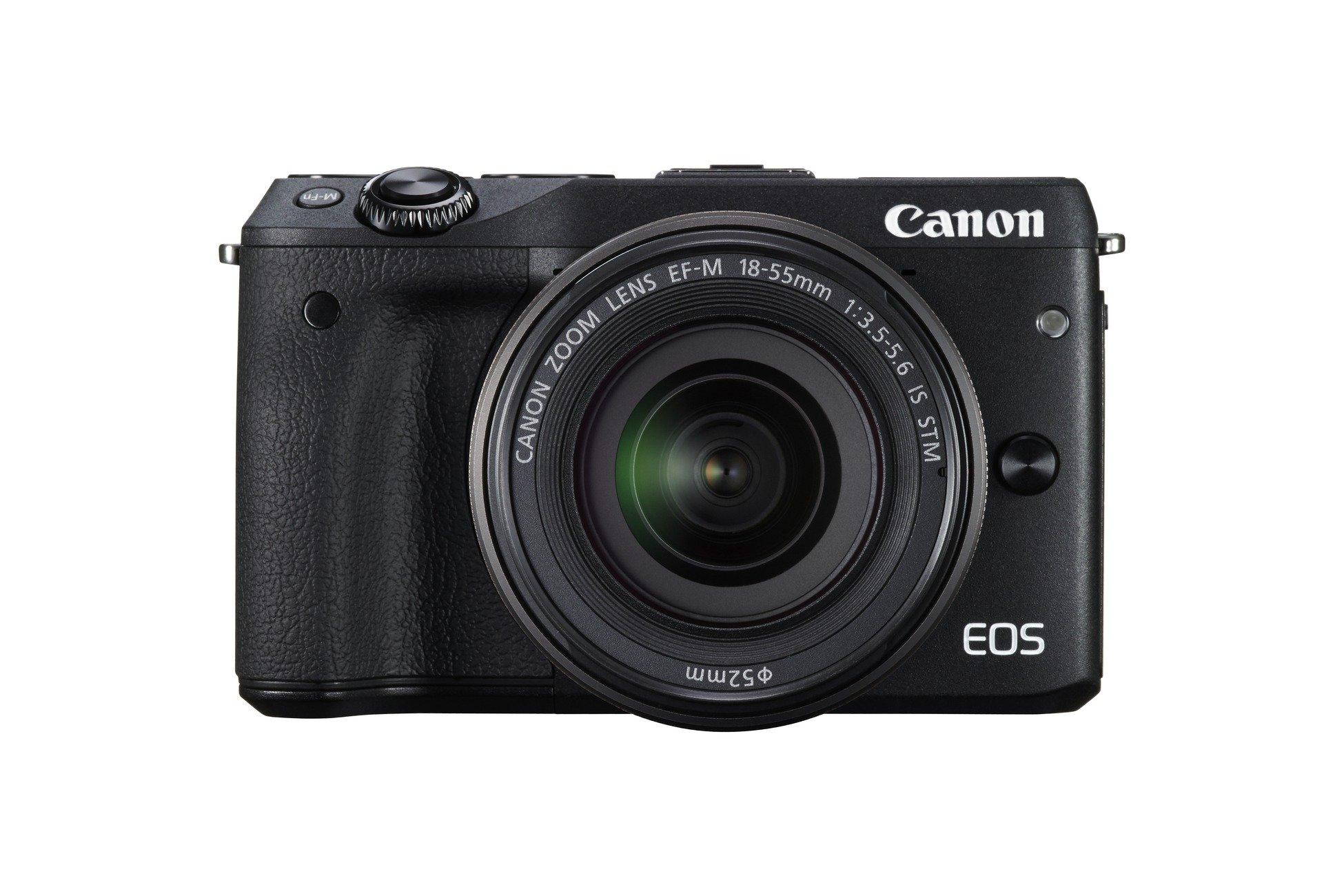 Canon EOS M3 Kit Fotocamera Mirrorless da 24 Megapixel con Obiettivo EF-M 18-55 mm STM, Versione EU, Nero product image