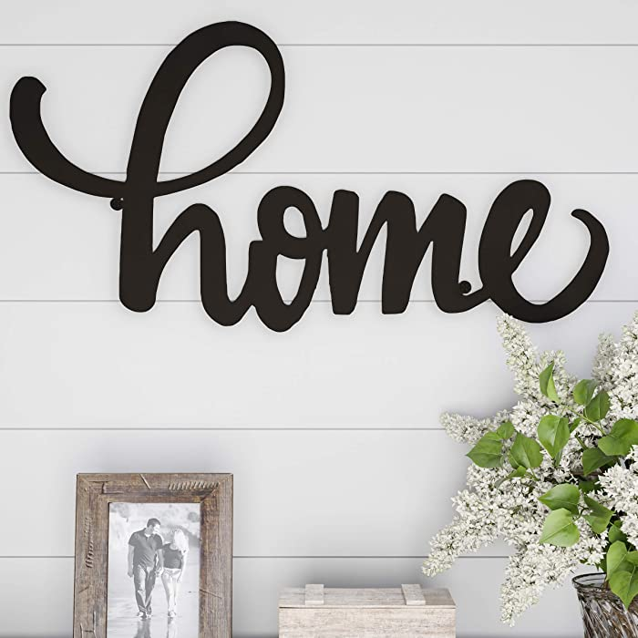 Lavish Home Metal Cutout Wall Sign-3D Word Art Home Accent Decor-Perfect for Modern Rustic or Vintage Farmhouse Style